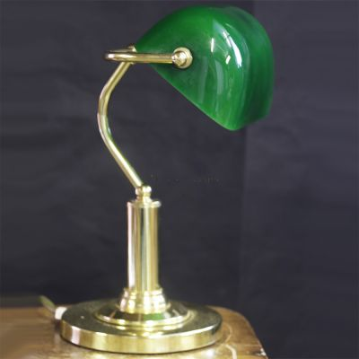 Period style office desk lamp
