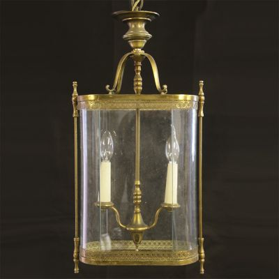 Antique oblong shaped French Brass lantern