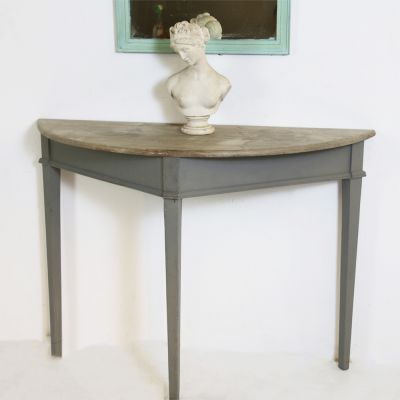 Scandananian bleach topped console table