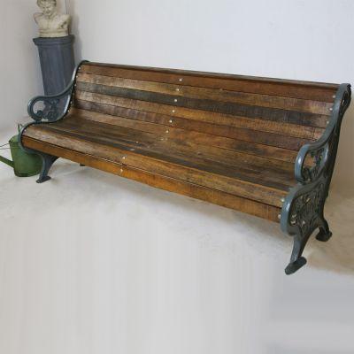 Fantastic Victorian roll back garden bench