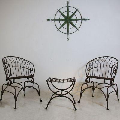 Vintage 3 piece wire garden set