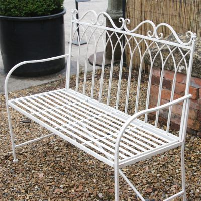 Decorative 2 seater metal bench