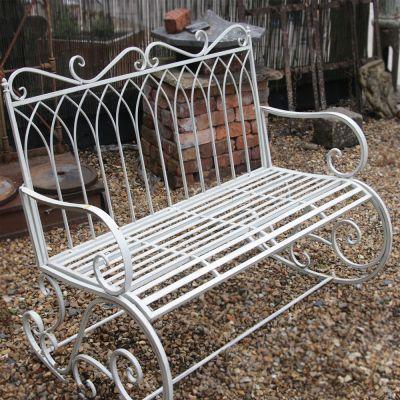 Decorative 2 seater metal rocking bench