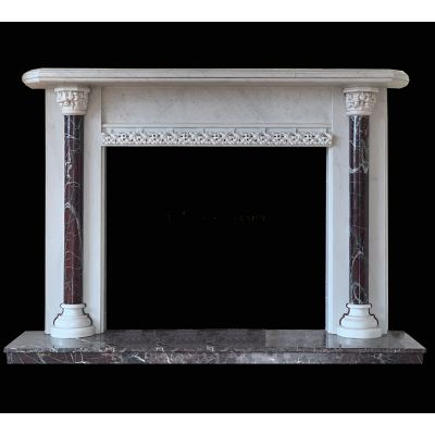 Stunning matching pair of Victorian marble fireplaces