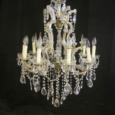 Fantastic large French crystal chandelier