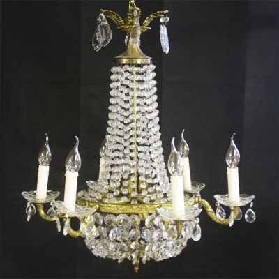 Beautiful pair of vintage French empire style chandeliers