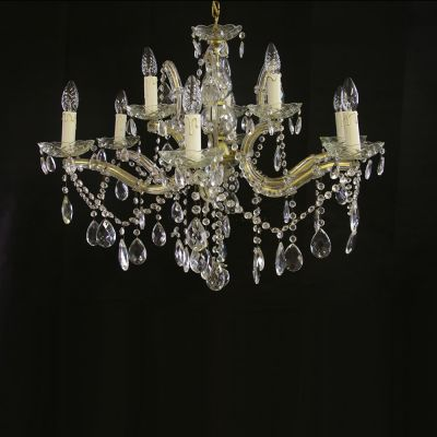 Beautiful French 2 tier crystal chandlier