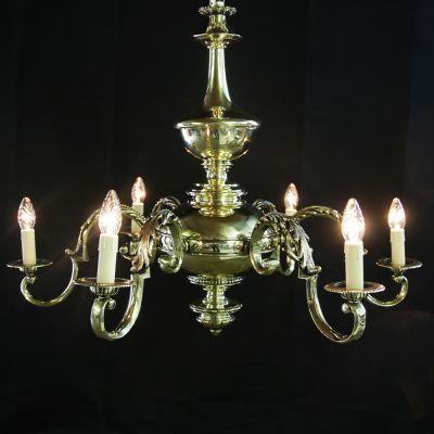 Magnificent vintage brass chandelier