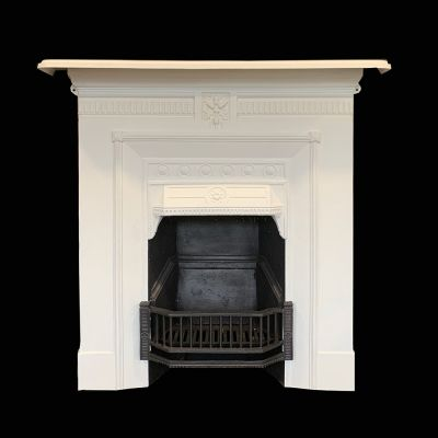 Matching pair of restored Edwardian cast iron fireplaces