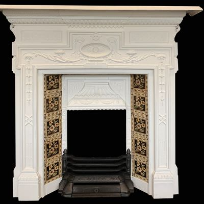 Stunning Victorian tiled fireplace