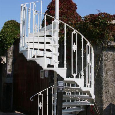 Beautiful restored vintage Victorian spiral staircase