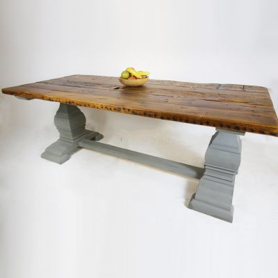 Viennese planked topped kitchen table