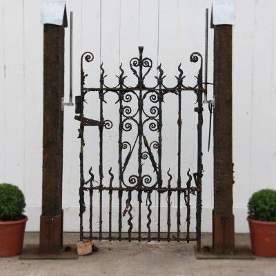 Beautiful wrought iron Edwardian pedestrian / garden gate