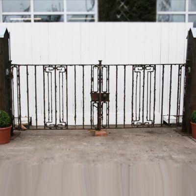 Original pair of Edwardian entrance gates