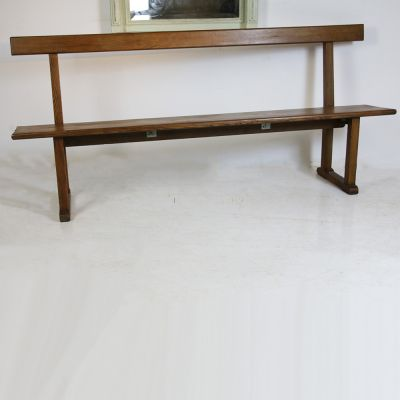 Nice simple wooden High back bench seat