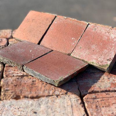 """Reclaimed Terracotta Quarry Tiles 6"""" x 6"""""""