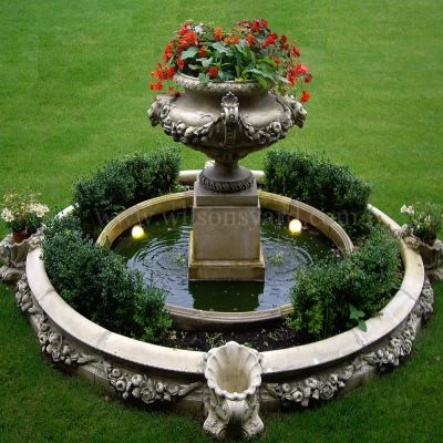 Lion Mask Fountain garden feature