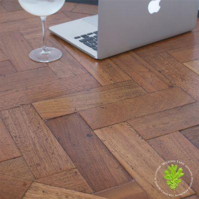 Salvaged Mahogany Parquet flooring
