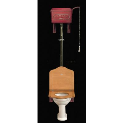 High Level Cast 814 Cistern  Throne Seat & White China