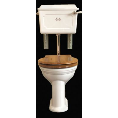 Low Level Set Ceramic Cistern White China