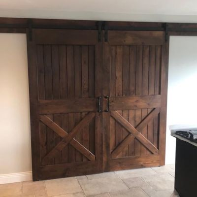 Reclaimed wooden sliding doors