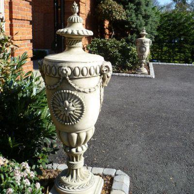 Richmond Urn on Royal Doulton Plinth