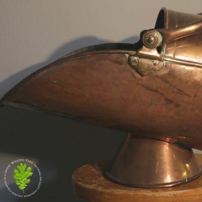 Antique copper coal shuttle