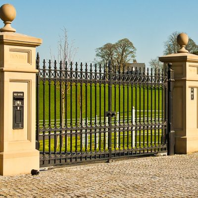 "The 12ft x 6ft11"" Sterling Entrance Drive Way Gates"