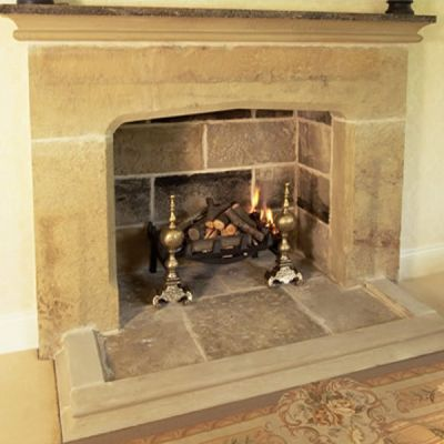 Country Manor Chimneypiece In Smooth Gridstone