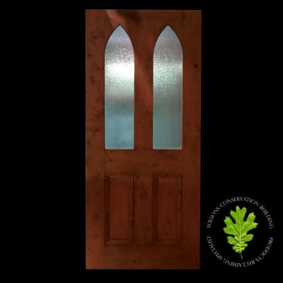 Gothic Style Glazed Door Made From Reclaimed Pine