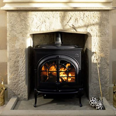 Country Manor Chimneypiece In Punch Faced Sandstone
