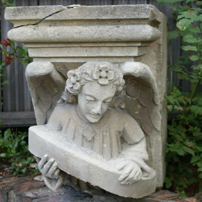 Set of 4 Magnificent Hand Carved Sandstone Capital. Circa 1850