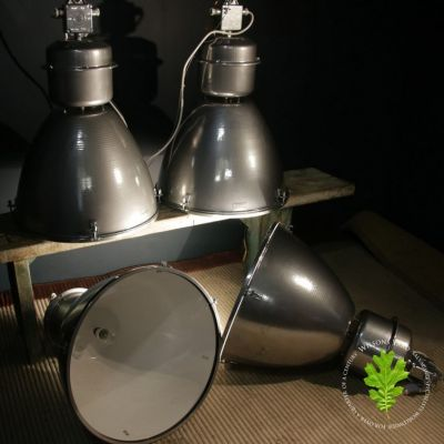 Extra Large Silver Industrial Lights