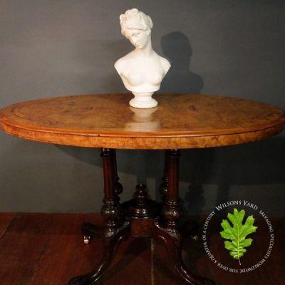 Antique Burr Walnut Table - circa 1870