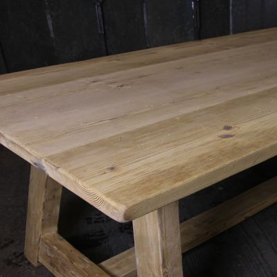Trestle Table in Reclaimed / Salvaged Timber