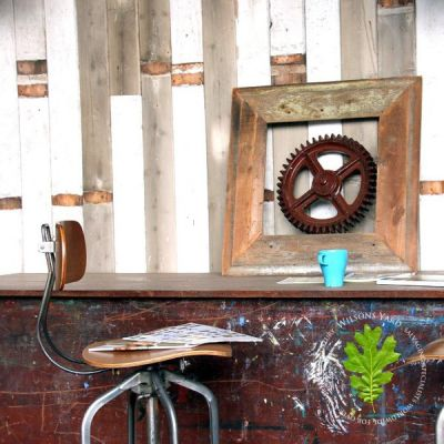 Reclaimed warehouse wall cladding