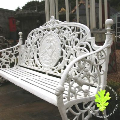 Cast Iron Benches 4 seat