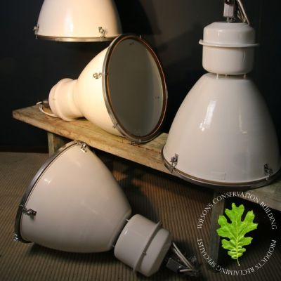Large White Industrial Lights