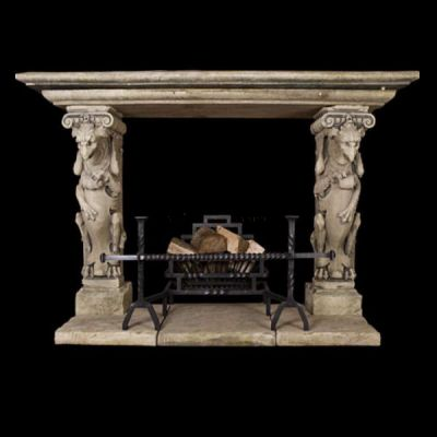 The Triton Collection - Griffin  Stone Fireplace