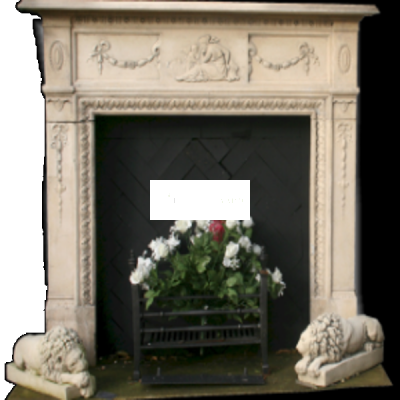 Victorian Style Stone Fireplace