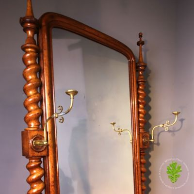Magnificent Victorian Cheval Mirror of Large Proportions (Circa 1880)