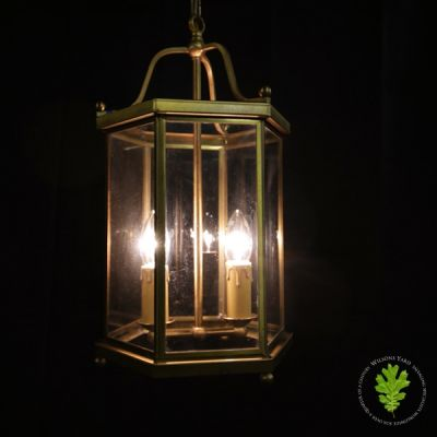 Vintage French Lantern Supporting 2 Candle Bulbs