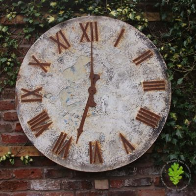 Vintage French Metal Wall Clock