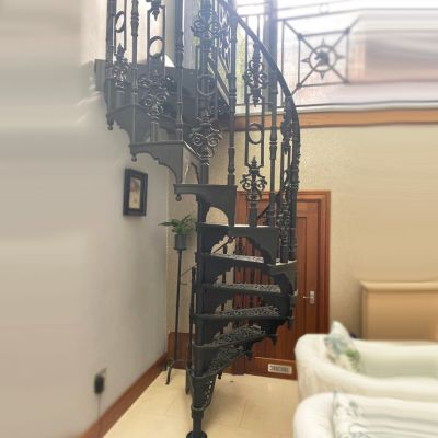 Victorian style cast iron spiral staircase
