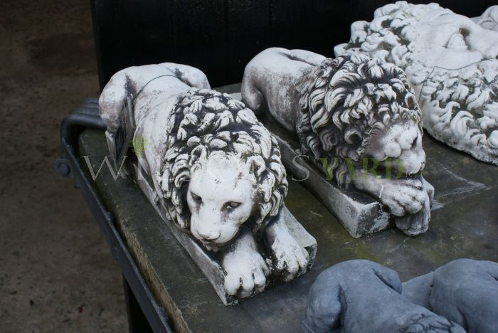 Medium Recumbent Lions after Canova