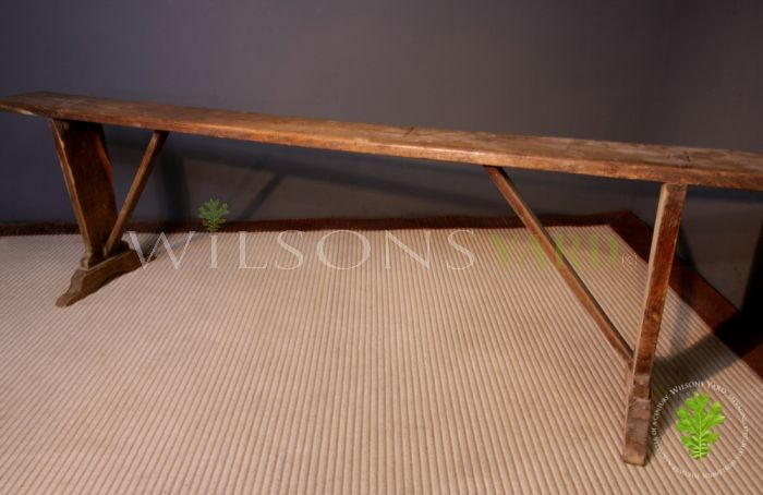 Antique French Bench in Hardwood (Circa 1890)