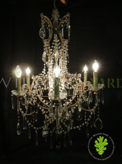 Stunning French antique Marie Teresa chandelier