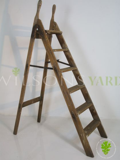 Antique wooden steps