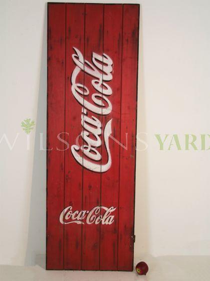 vintage coca cola display sign