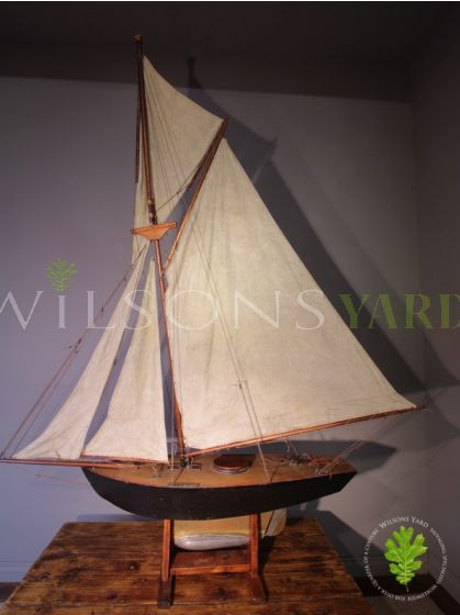 Wooden Rigged Cutter Pond Yacht (Pre-War) with Linen Sails